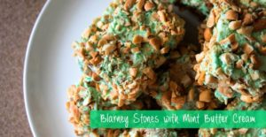Blarney Stones with Mint Buttercream