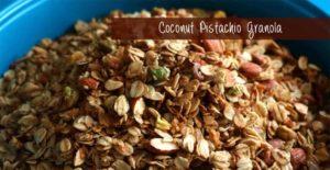 Coconut Pistachio Granola