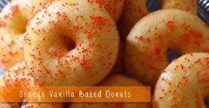 Orange Vanilla Baked Donuts