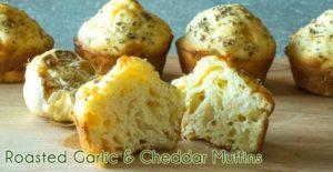 Roasted Garlic Cheddar Muffins