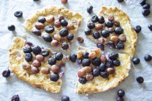 Roasted Grape & Goat Cheese Tart