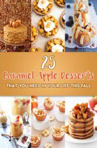 25 Caramel Apple Desserts {Recipe Roundup}