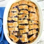 easy overnight french toast with blueberries