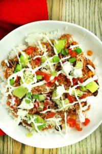 Enchilada Verde Burrito Bowls