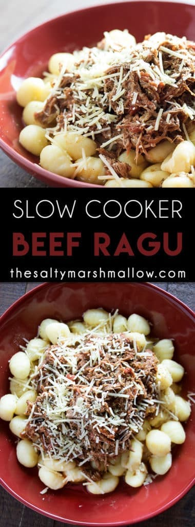 slow cooker beef ragu