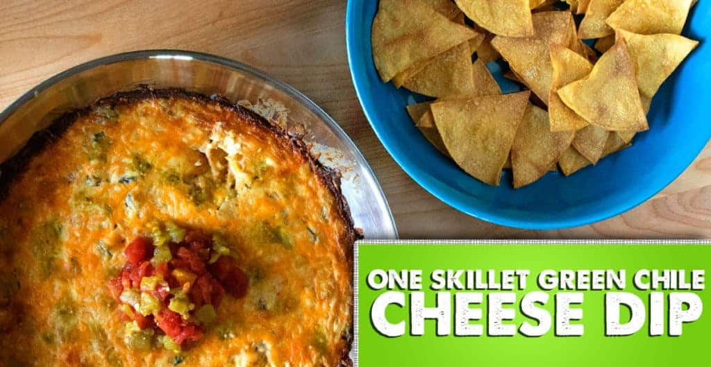 One Skillet Green Chile Cheese Dip - The Salty Marshmallow