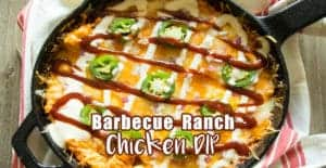Barbecue Ranch Chicken Dip