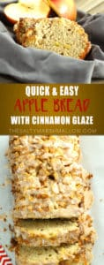 Apple Bread with cinnamon glaze