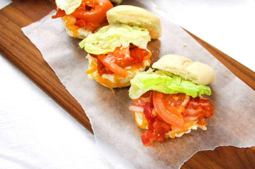Easy sliders made with leftover turkey