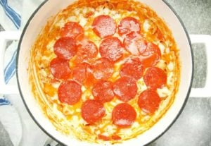 One Pot Supreme Pizza Pasta