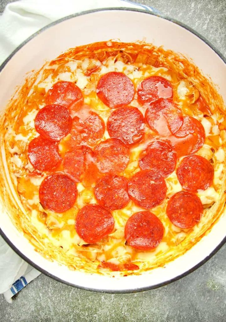 one pot pizza pasta