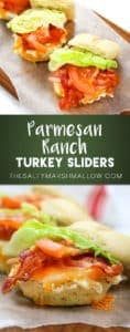 Easy turkey sliders with parmesan ranch