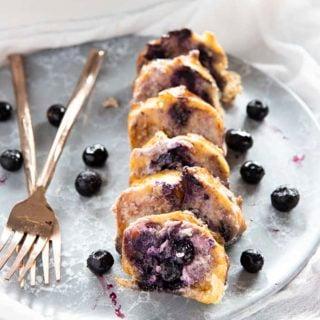 blueberry overnight french toast casserole