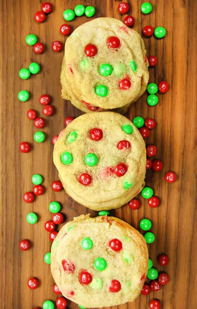 Christmas M M Cookies The Salty Marshmallow