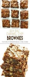 pinterest fudgy brownies with sea salt caramel chips