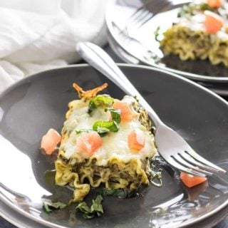 pesto lasagna roll ups