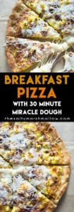 easy homemade breakfast pizza