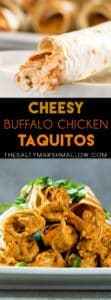 Cheesy buffalo chicken taquitos are perfect as an appetizer or main dish!