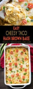 Pinterest cheesy taco hash brown bake