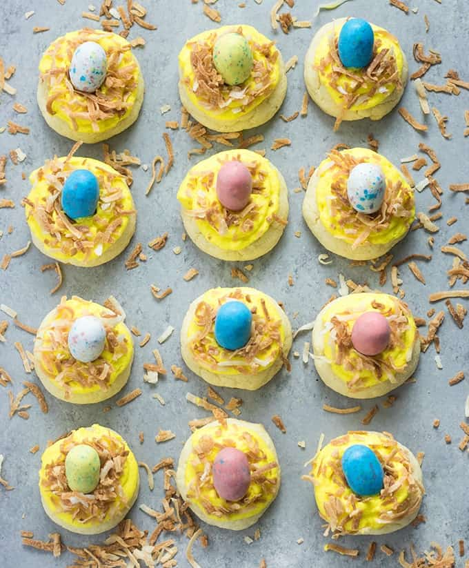 easy easter cake mix cookies