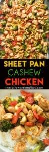 sheet pan cashew chicken