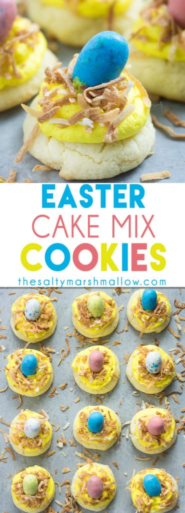 Easy Easter cookies using cake mix