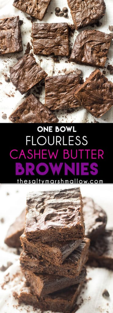 Flourless brownies with cashew butter