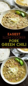 Easy crock pot pork green chili