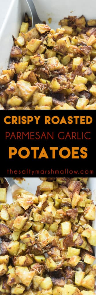 Crispy Roasted Potatoes with garlic and parmesan