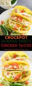 crockpot jalapeno ranch chicken tacos