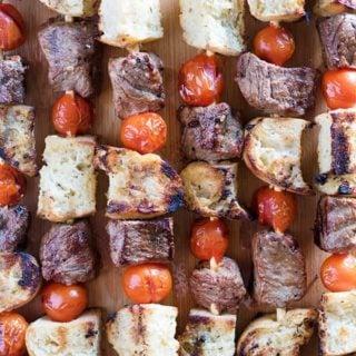 kabobs with steak