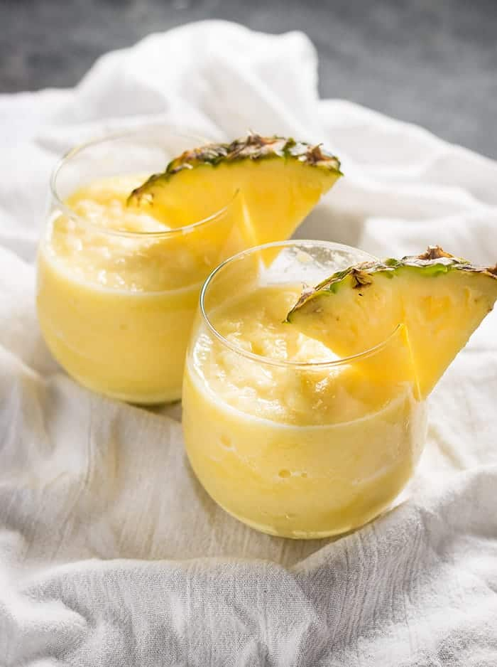 pineapple white wine slushie