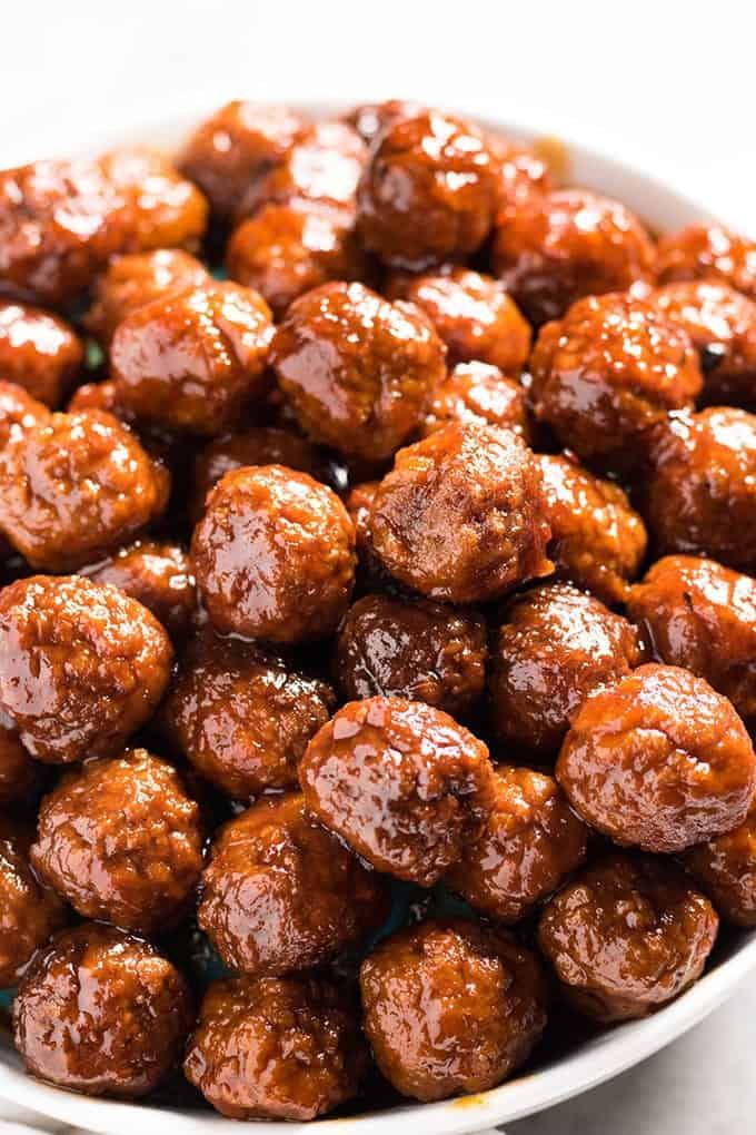 Grape Jelly Meatballs The Salty Marshmallow