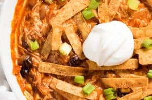 chicken enchilada soup slow cooker