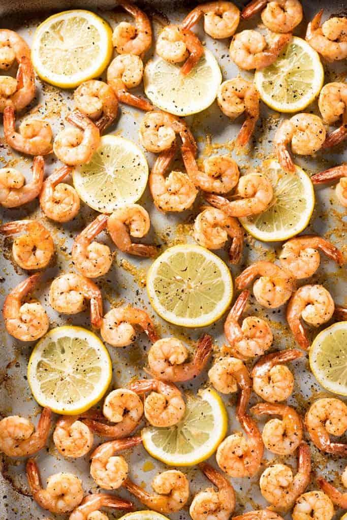 Sheet Pan Lemon Pepper Shrimp