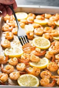 Sheet Pan Baked Lemon Pepper Shrimp