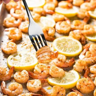 Sheet Pan Baked Lemon Pepper Shrimp