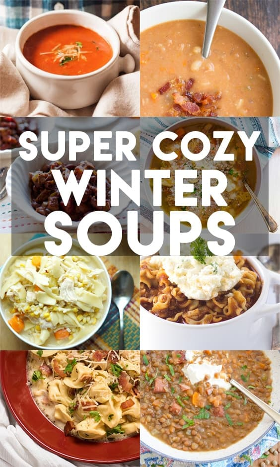 Easy to make soups for fall and winter!