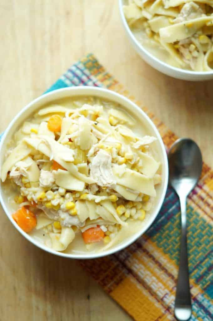 Chicken Pot Pie Soup made in the Instant Pot