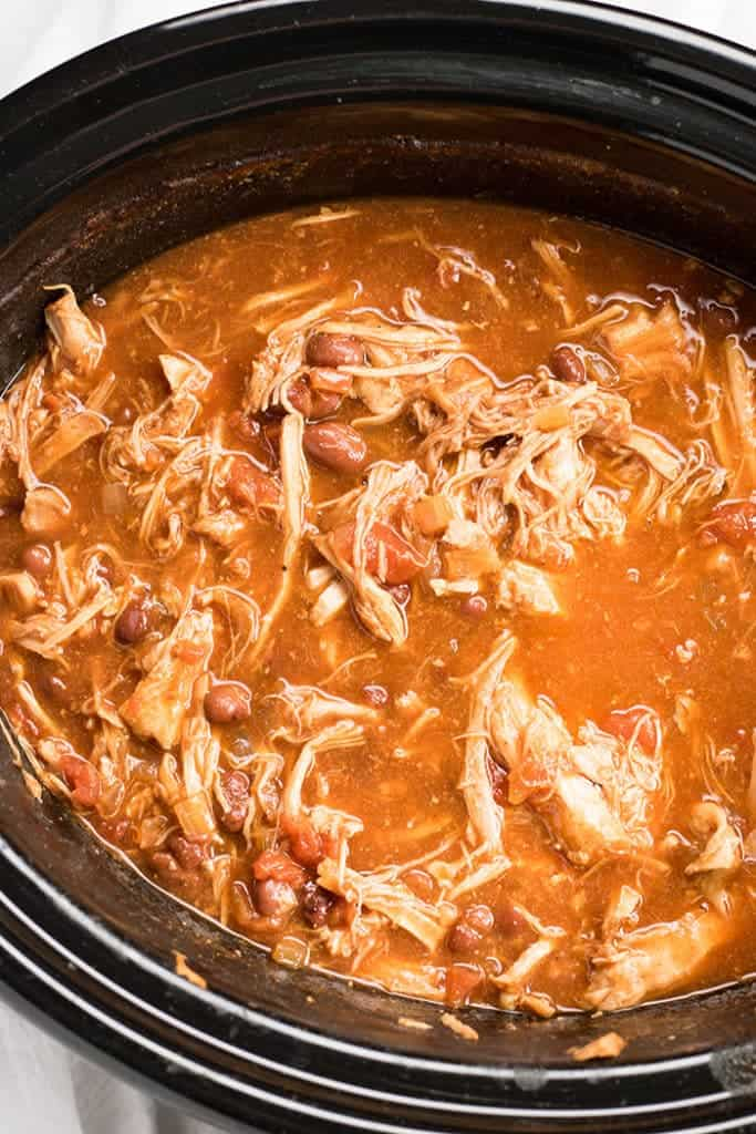 Pulled Pork Chili made in the slow cooker
