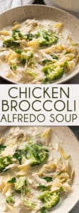Chicken Alfredo Soup - This easy to make one pot Chicken Alfredo Soup with Broccoli is sure to become a family favorite! A super creamy soup that tastes just like everyone's favorite comfort food pasta dish!