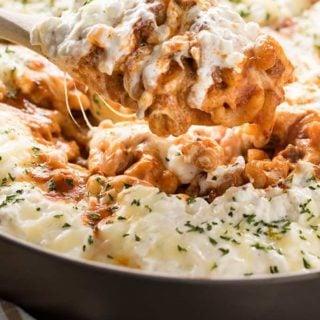 One pot lasagna with macaroni