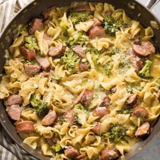 one pot pasta with sausage broccoli and cheese