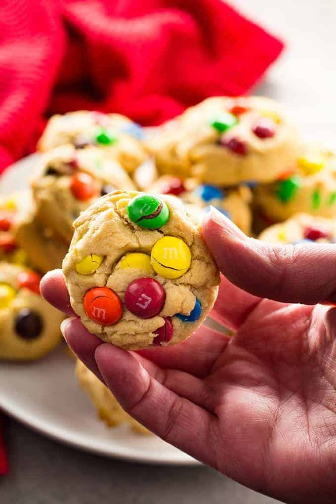 M&M cookies with peanut butter