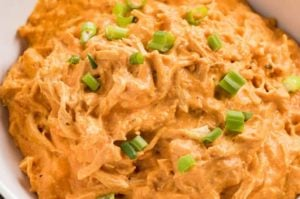 buffalo chicken dip in a bowl