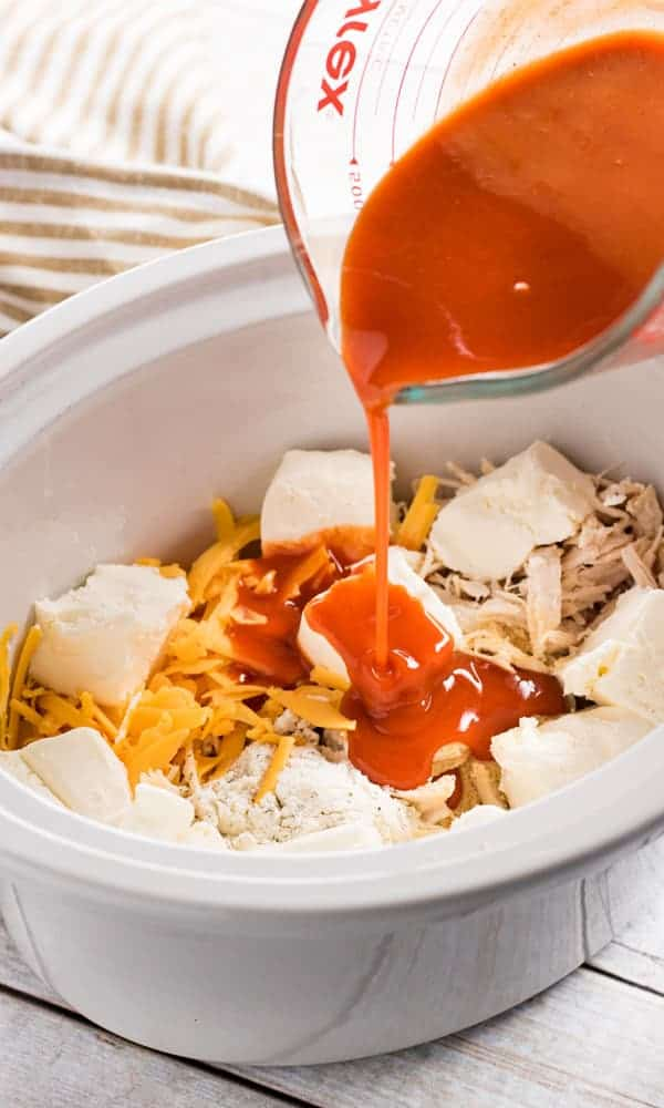 crockpot buffalo chicken dip with cheese