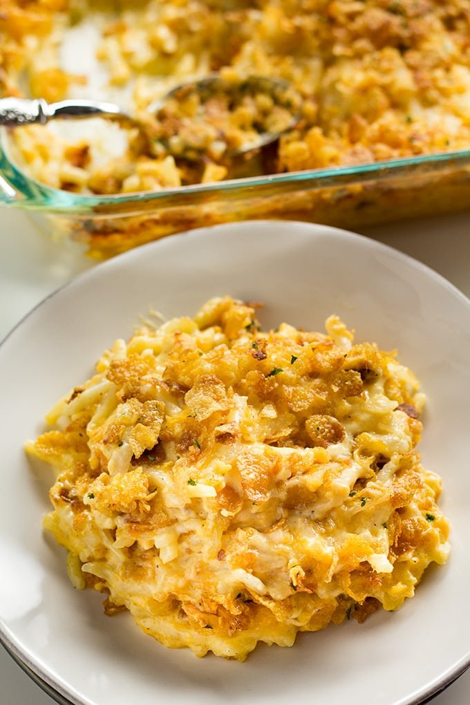 easy cheesy hashbrown casserole recipe with cornflakes