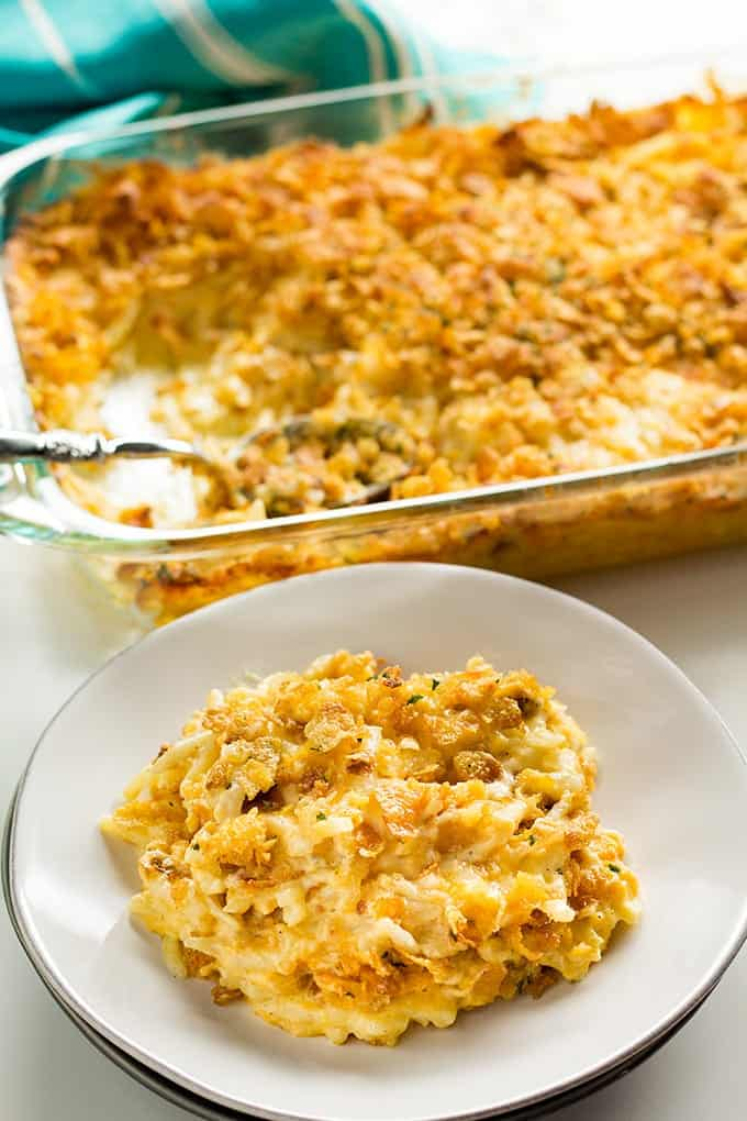 hashbrown casserole with cheese and sour cream