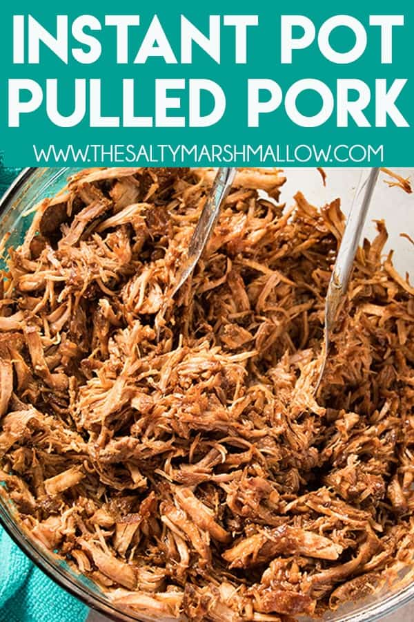 Instant Pot Pulled Pork is seasoned to perfection, and mouthwateringly tender! Make this easy and super flavorful pulled pork using a pork loin roast and have your family's new favorite instant pot pork recipe on the table in an hour! #pulledpork #instantpot #bbq