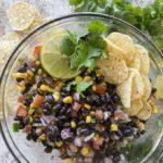 black bean salsa in a bowl